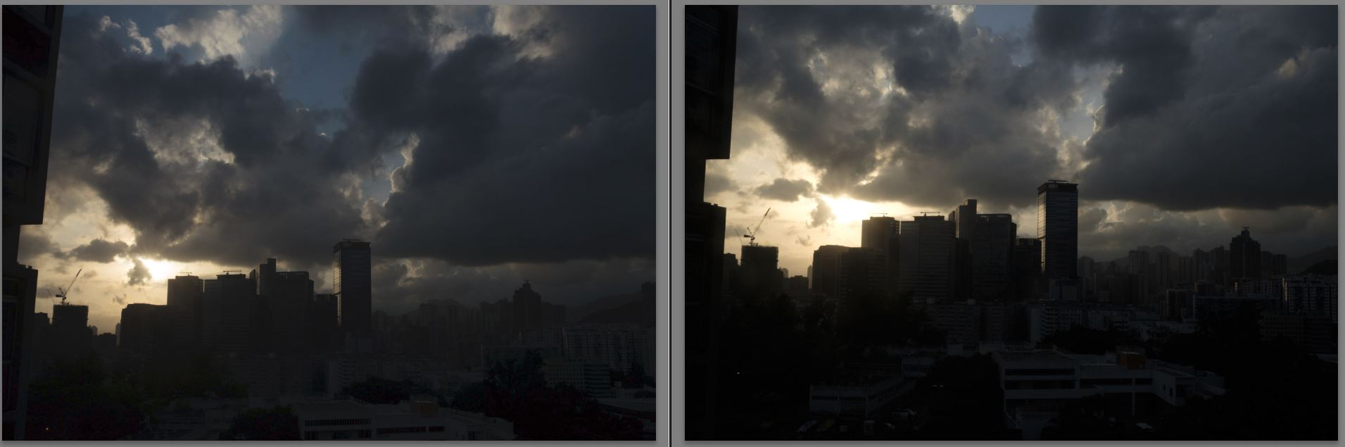 Both Compared (screen grab from Lightroom)